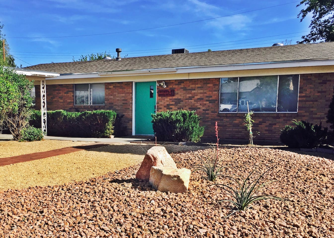 Classic mid-century home on quiet street right around the corner from the university.