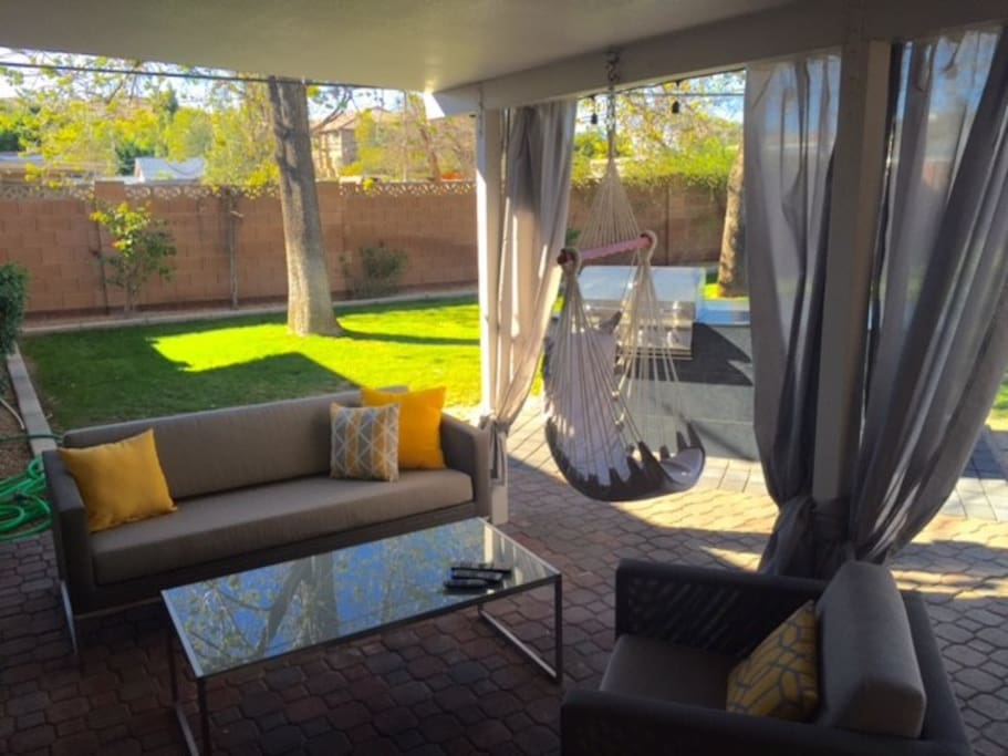 Backyard - Outdoor Seating, Built In Grill, outdoor TV