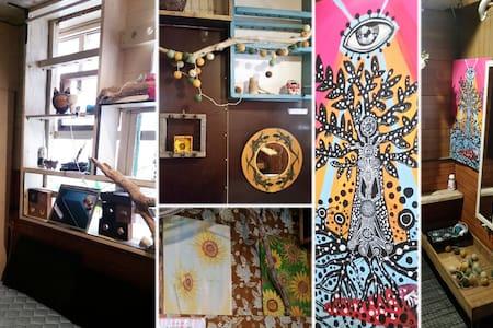 [Art&Sea アート&シー No5]海まですぐアーティスティック個室セルフリゾート・ゲストルーム - Chatan-chō