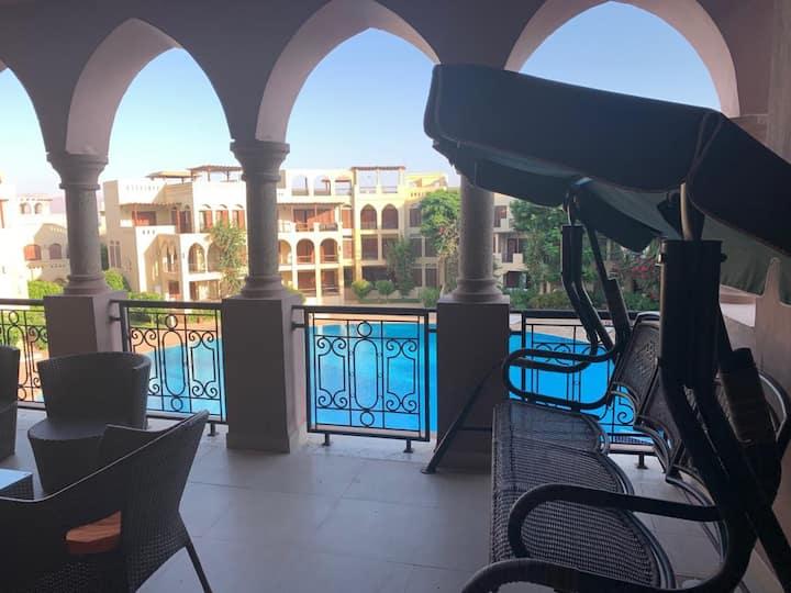 Talabay Aqaba, 2 Floor Apartment, King Size Bed