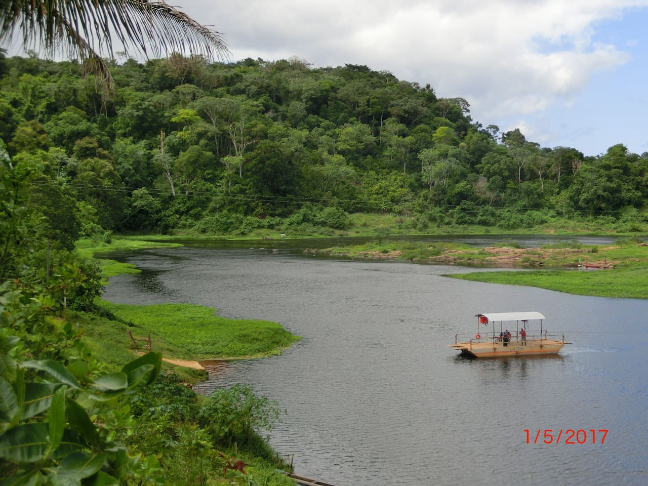 The river ferry between Fazenda Taboquinhas and the Taboquinhas village.