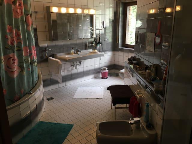 Das große Badezimmer /the big bathroom on the same floor