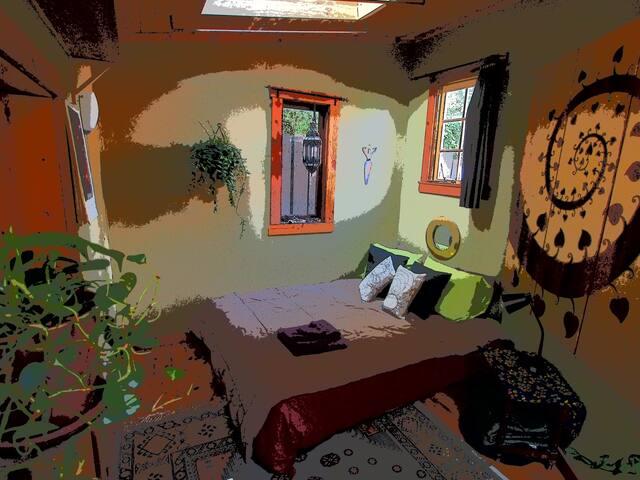 Hobbit house bed area