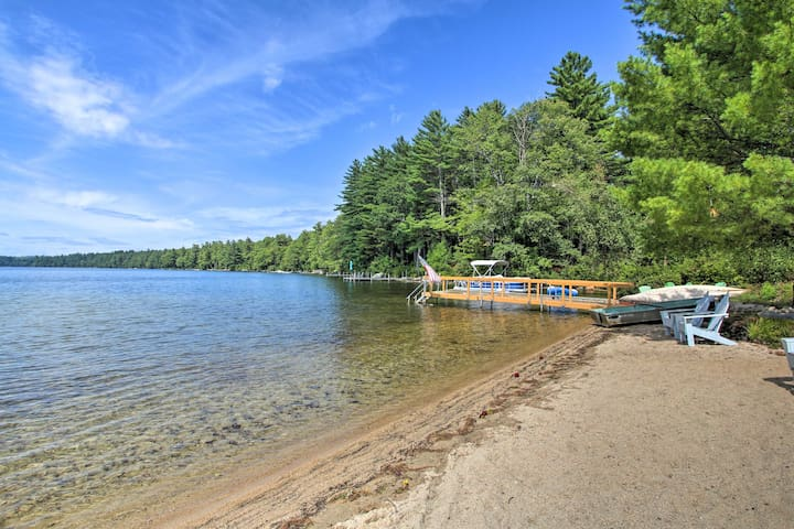 Panther Pond Cabin w/200 Ft Sand Beach & Dock