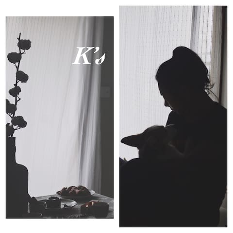 K's 【Room1】福田CBD【三地铁口】【可健身】【柯基狗狗陪伴】【家庭影院】