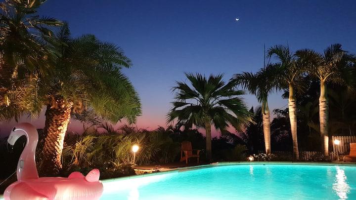 Chambre d'hôte + piscine vue sur mer + PDJ inclus