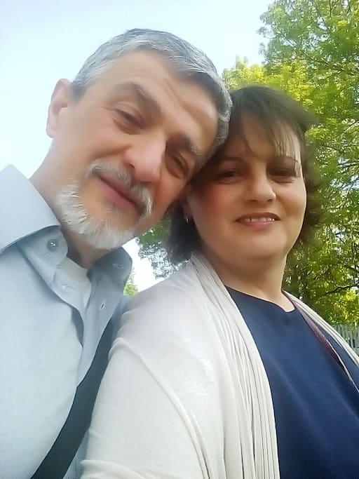 Co-host Ermanno con Silvia