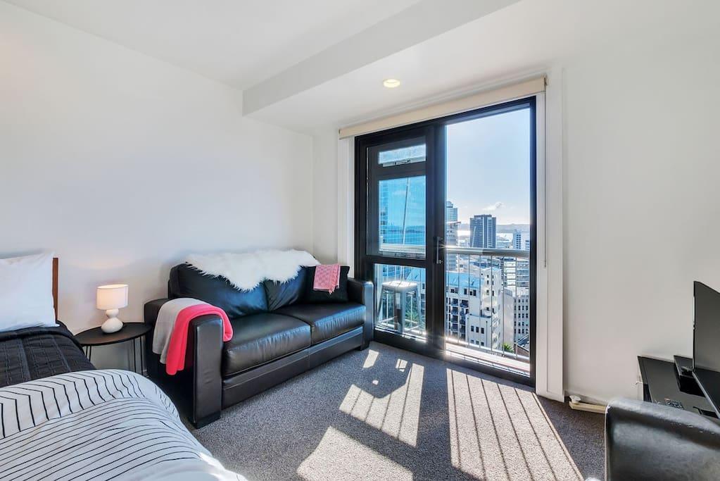 Sunny warm apartment views.
