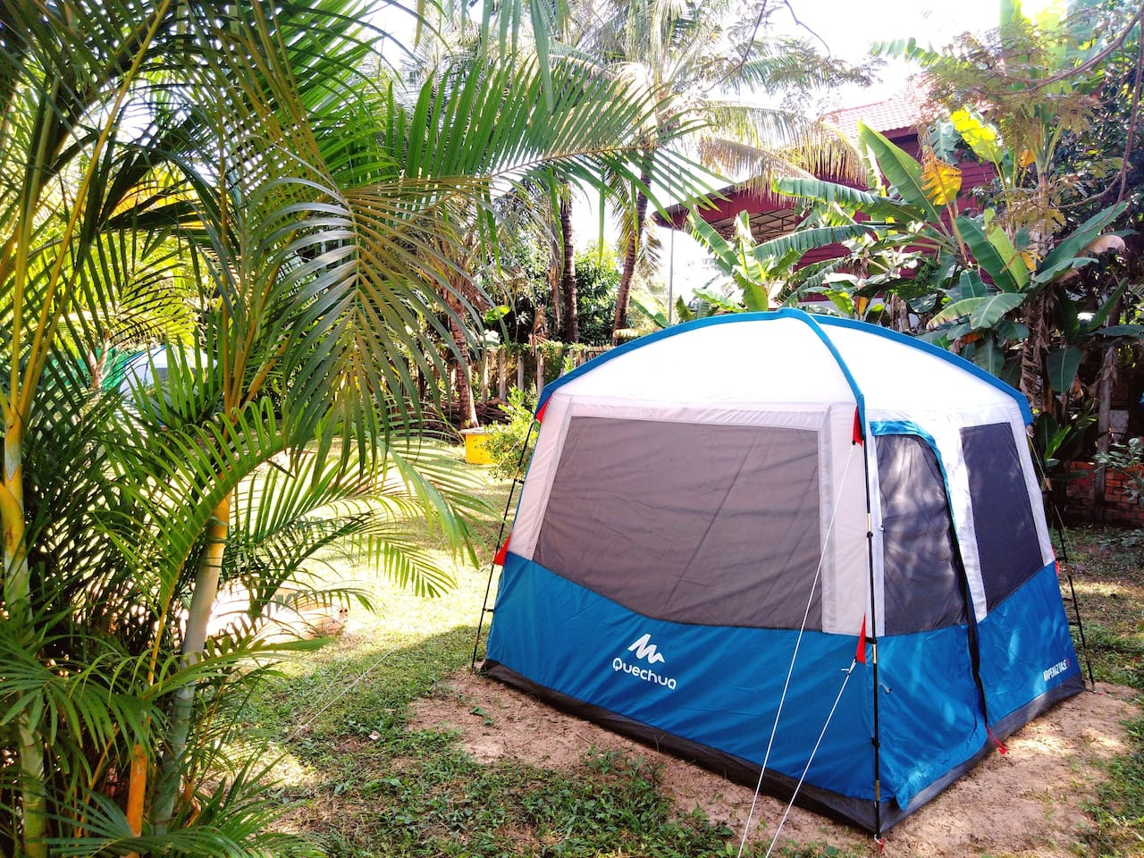 Our daily price for this tent is a maximum of three people, 6$