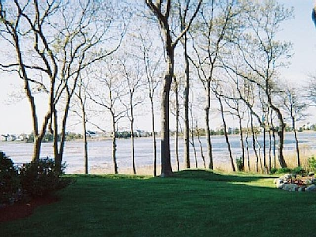 Scenic Centerville River at high tide
