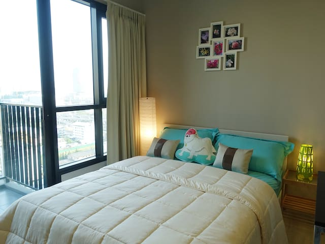 Cozy new condo, great view, 3min to MRT - Bangkok - Ortak mülk