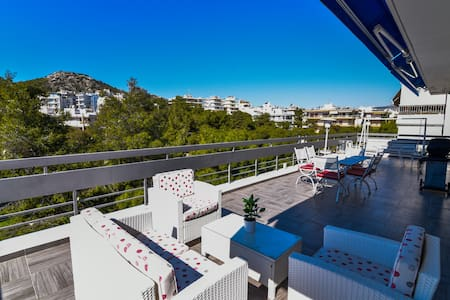 Penthouse, Varkiza, Athens resort, near the sea. - Vari - 公寓