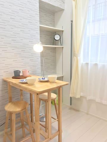 Mini Studio带阁楼,到skytree和浅草步行10分钟,羽田成田机场都直达