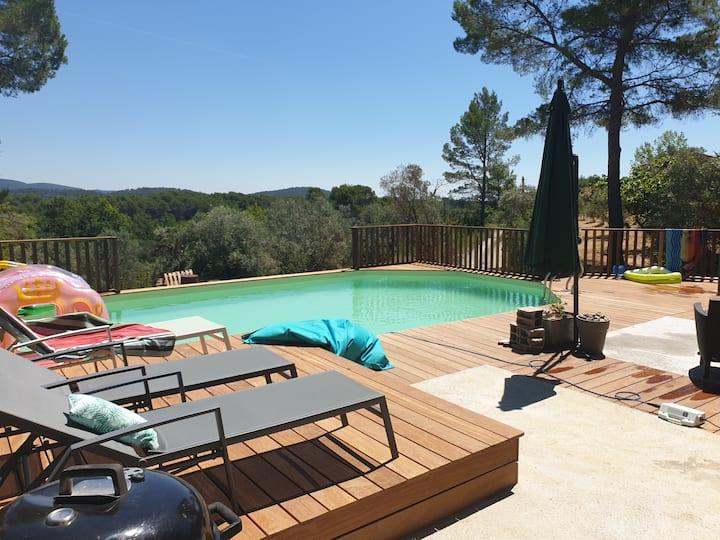 Campagne villa entiere piscine&spa proche mer&lac