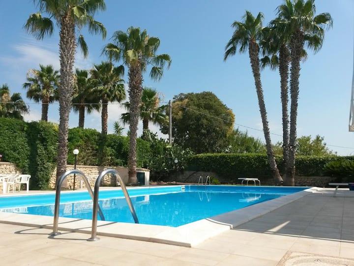 villa with pool near the sea