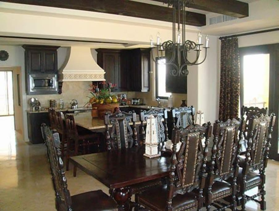 Dining Table and Full Kitchen