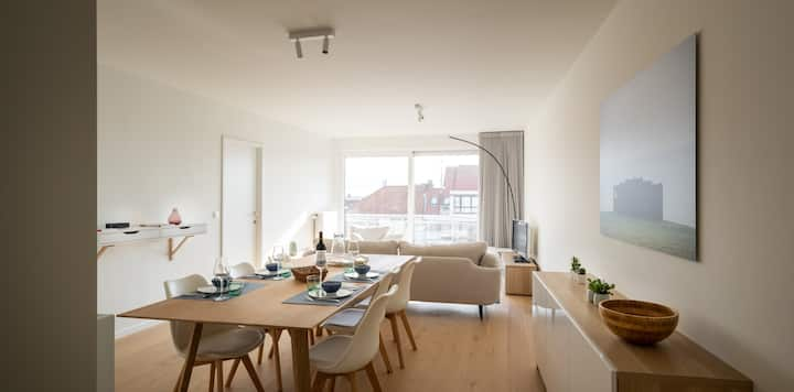 ★ Bright & Modern apartment (5p) near seaside ★