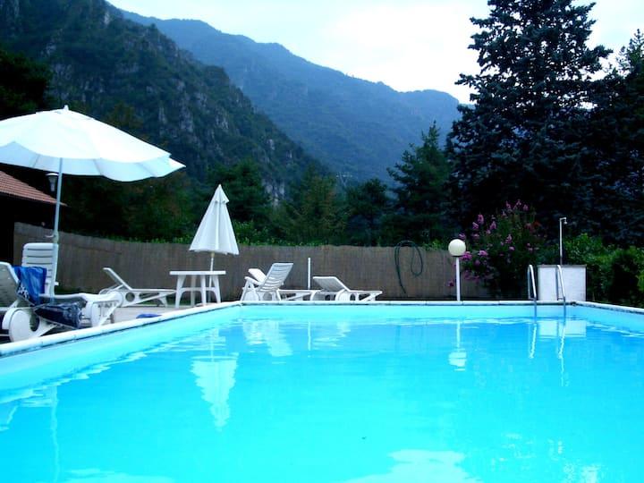 Villa (Appartamento A) on Lake Idro with Pool