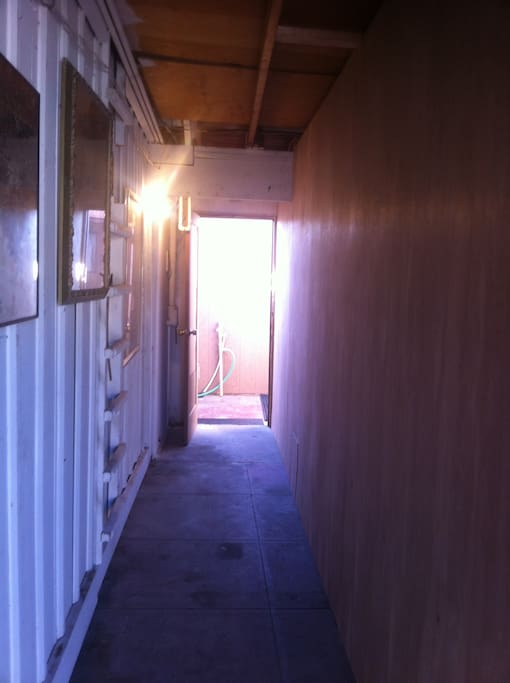 This is the breezeway to go down to your unit