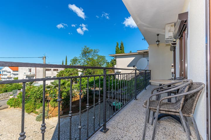 Two Bedroom Apartment, in Dramalj (Crikvenica), Balcony