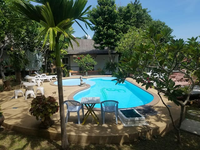 Family villa with garden and pool