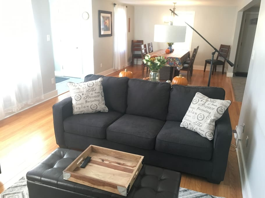 1 of 2 pullout sleeper sofas