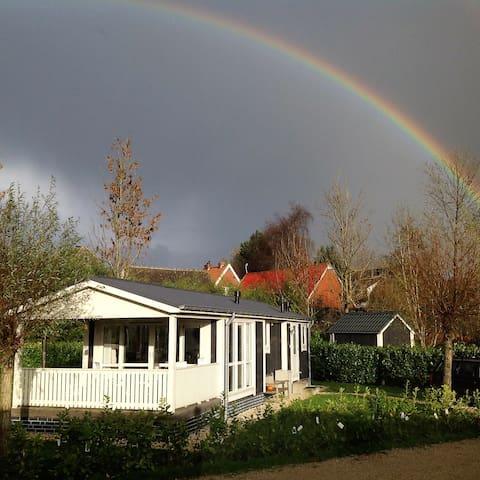 volledig ingericht vakantiehuisje met wifi - Nij Beets - Blockhütte