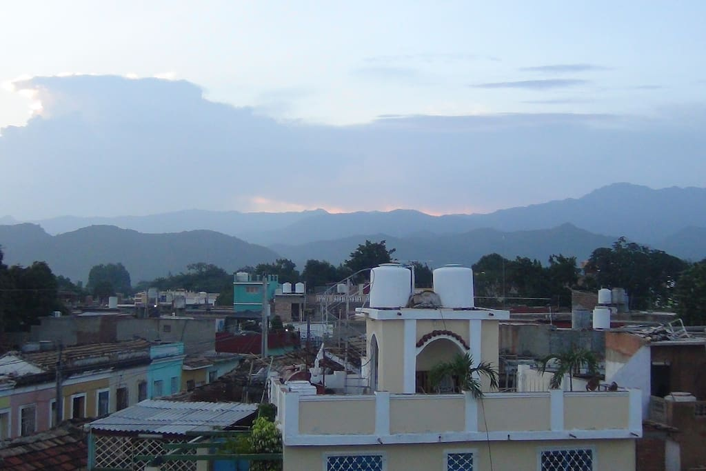 Beautiful Trinidad, Cuba view from our terrace