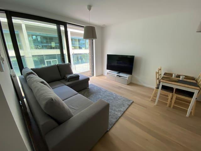 Trendy appartement aan 'Nieuw Zuid' te Antwerpen