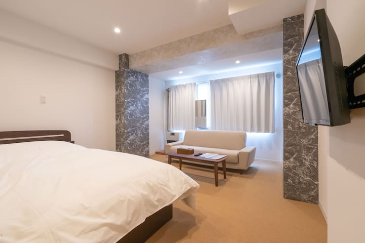 Double Bed・100%Rock onsen・wi-Fi・【903・modern room】