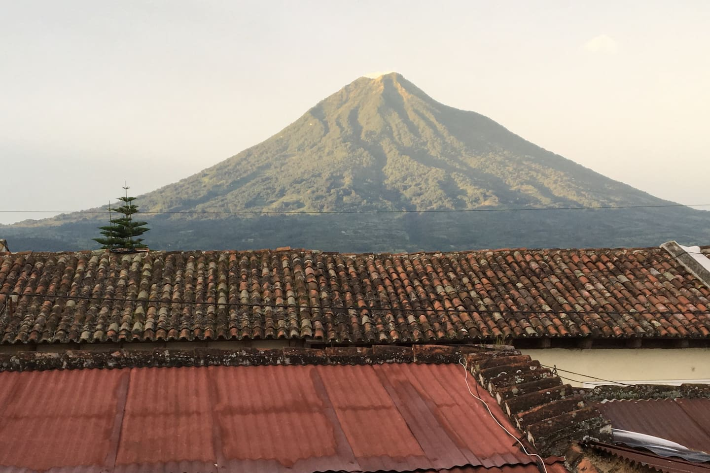 Your view from Main Bedroom — every morning the Volcano greeting