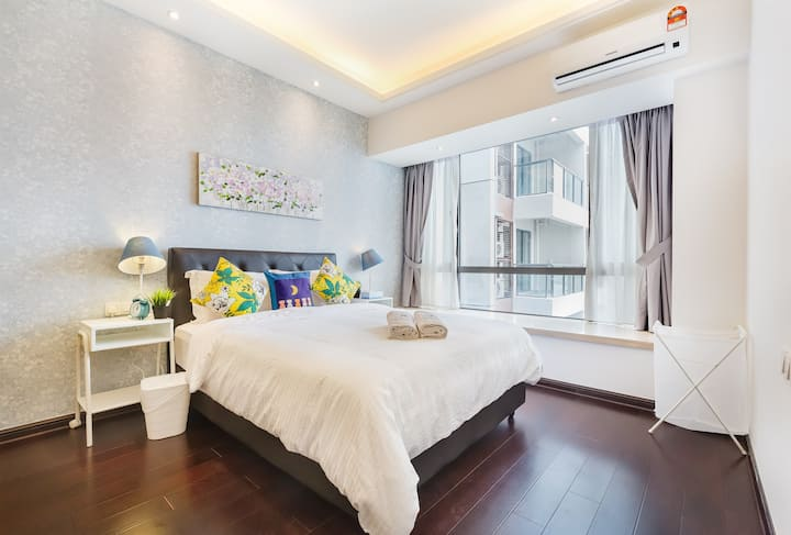 🌏R&F Mall💫@UHA 2BR 3-4pax Luxury WiFi nearCS,SgCIQ