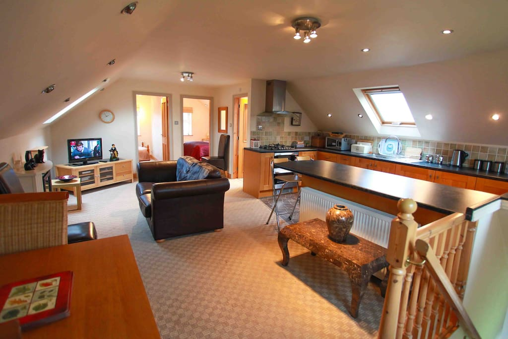 Large and airy being open plan