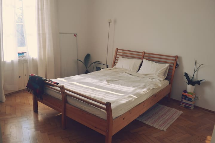 Bright room in a 1930s building - Warszawa - Apartment