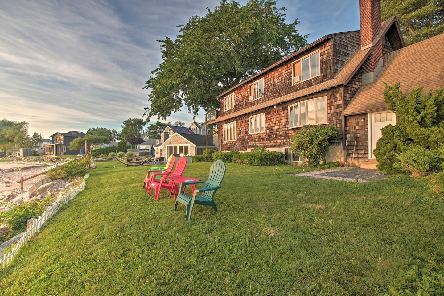 Book your Guilford getaway to this peaceful, waterfront retreat.