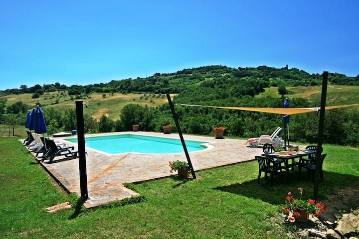 Typical stone farmhouse with private pool