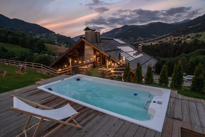 Chambre Double Cosy avec Vue Mt Blanc