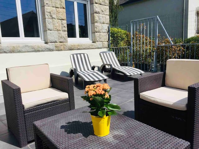 Appartement-terrasse en plein centre de Quimperlé