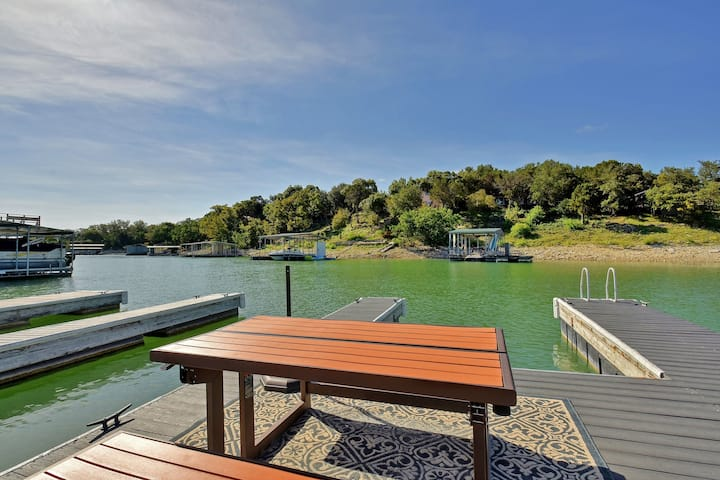 Updated Lake Travis Home with Private Boat Slip