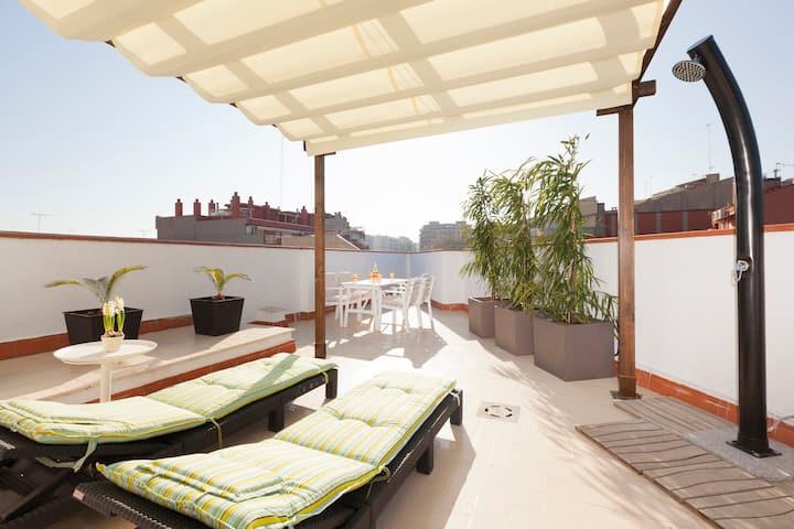 sunny attic, 2 teraces and solarium