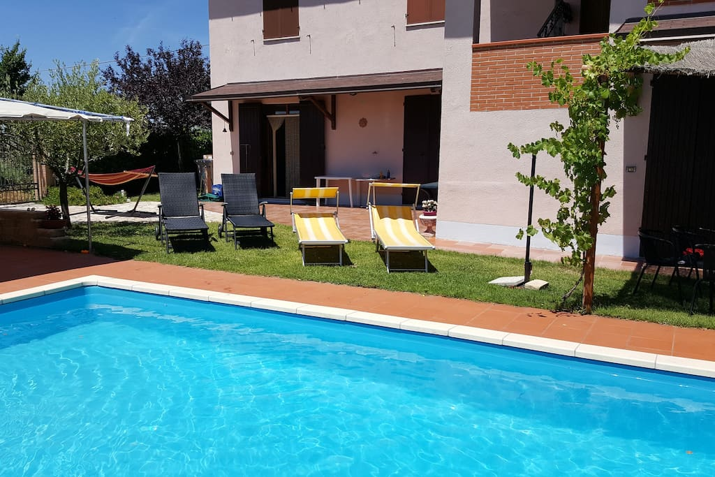 Calm holiday home with pool and big garden maisons for Prix piscine waterair barbara