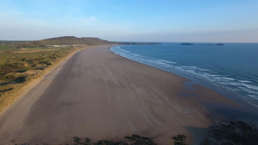 This is Llangennith &Rhossili Beach...! mile from our House.