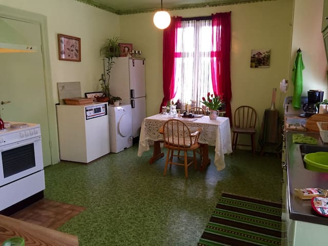 ROOM and  KITCHEN