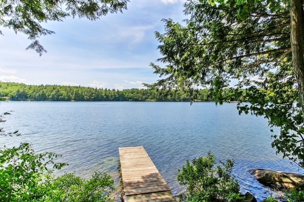 Right in the home's backyard, Coffee Pond is over 100 acres in size and features excellent fishing, along with other great water activities.
