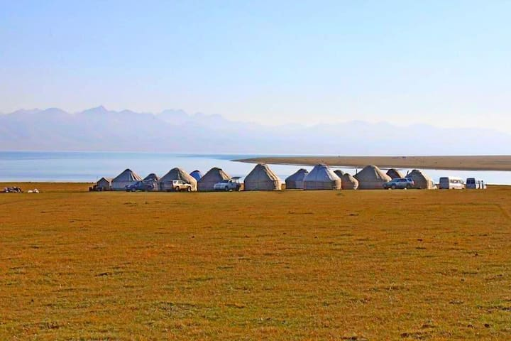 "Yurt Camp""Baiysh"",Southern Shore of Song-Kol Lake"