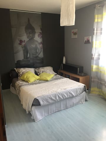 Quiet private rooms @ 20' Downtown Gva/Airport - Challex - Huis