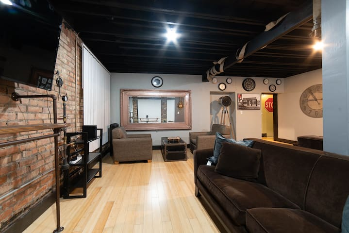 Downtown Detroit Steampunk Industrial Loft