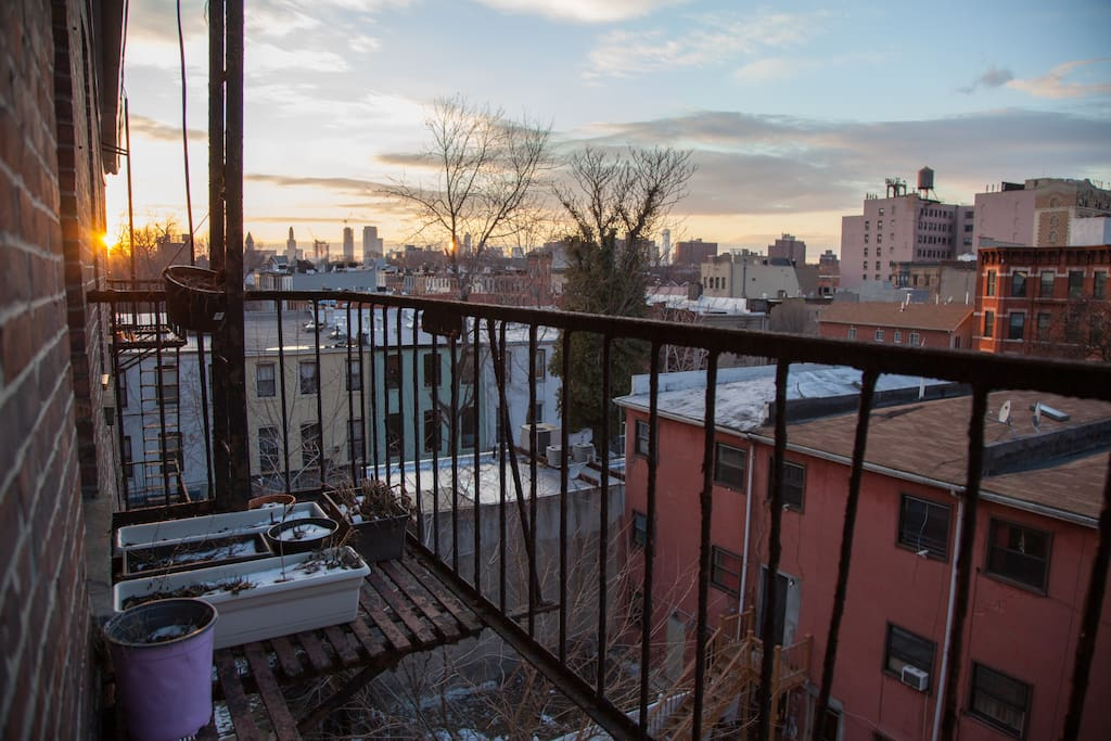 View from the fire escape.
