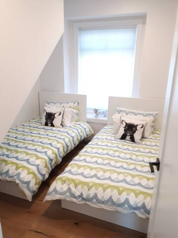 Room 2- upstairs, 2 single beds