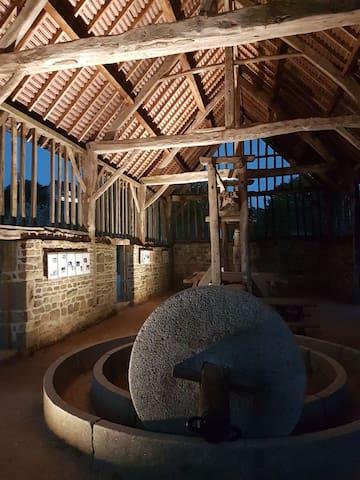 Ancient oak framed cider press building